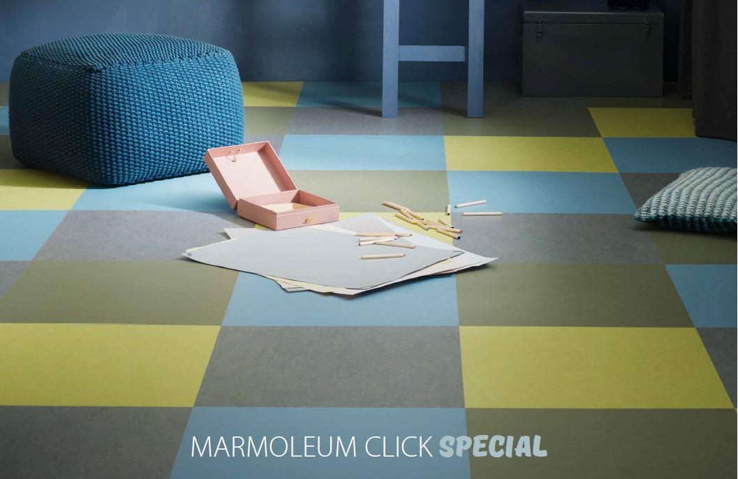 Forbo marmoleum click tegel vloer alle kleuren
