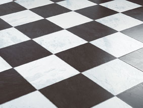 Faus laminaat tegels chess black 621989 zwart wit geblokte vloer